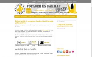 Blog Voyages et enfants