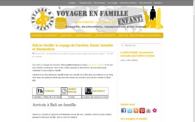 Articles sur le blogue Voyages et enfants