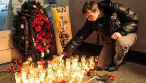 Hommage aux victimes de l'attentat terroriste.