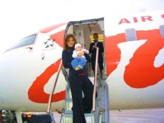 Et si bébé naît en vol ? On fait quoi ?