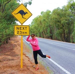Ce type de panneaux est même présent sur les autoroutes à Perth