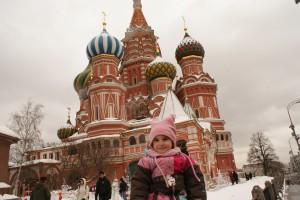 Ella à la cathédrale St-Basile, Moscou