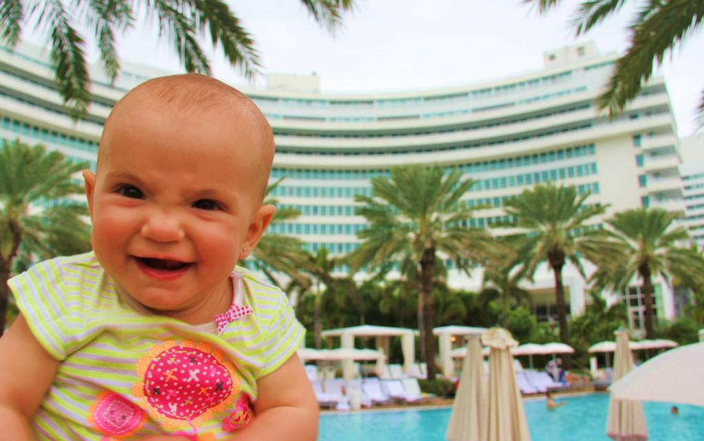 Bébé Laëtie jet set à Miami Beach, Florida !
