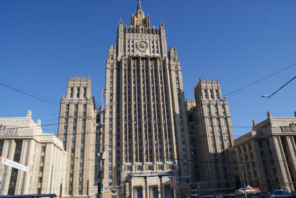 Moscou possède une architecture imposante ! Ici, une des 7 soeurs: ensemble d'édifices construits à l'initiative de Staline