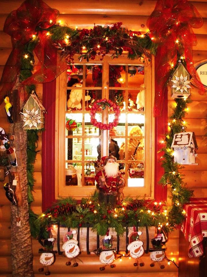 Noël est bien installé à la fabuleuse boutique du Verger Champêtre.