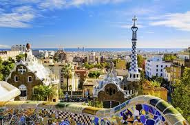 Le parc Guell absolumnet superbe! Oeuvre de Antonio Gaudi.